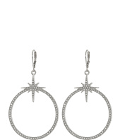 Vince Camuto - Pave Star Frontal Hoop Earrings