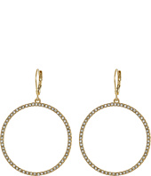 Vince Camuto - Pave Open Circle Earrings