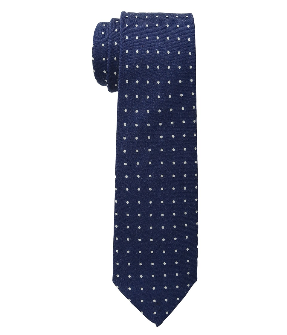 Cufflinks Inc. Polka Dot Wool Tie Navy/White Ties