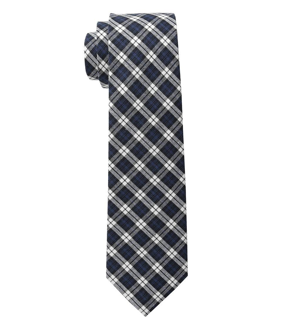 Cufflinks Inc. Plaid Cotton Tie Navy/Black Ties