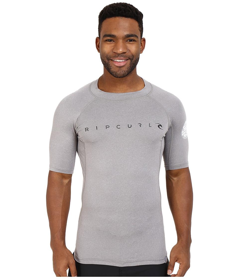 Rip Curl Dawn Patrol UV Tee Short Sleeve Grey Mens Swimwear