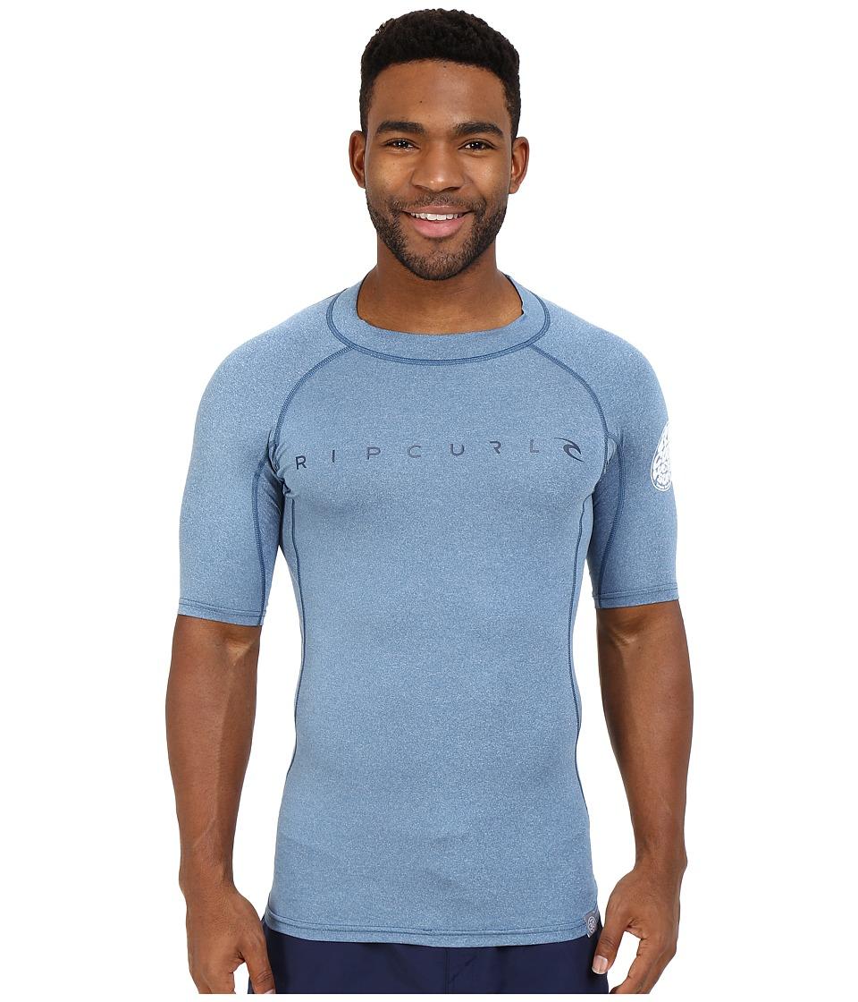 Rip Curl Dawn Patrol UV Tee Short Sleeve Blue Mens Swimwear