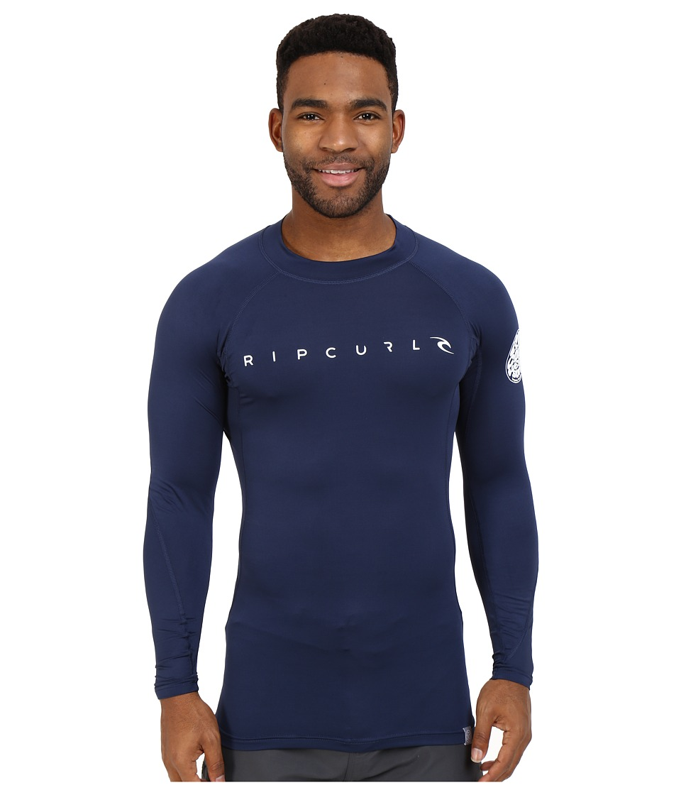 Rip Curl Dawn Patrol UV Tee Long Sleeve Navy Mens Swimwear