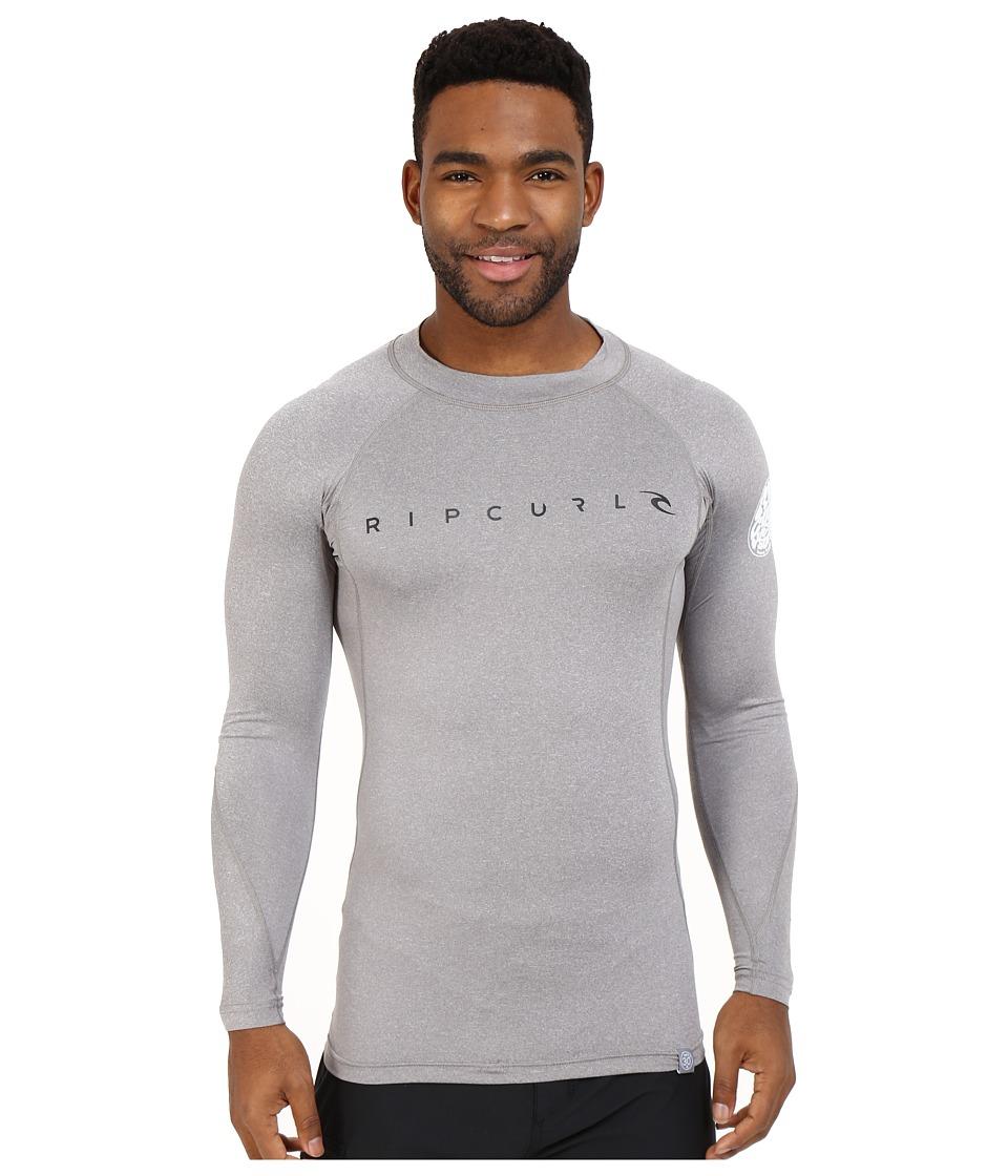 Rip Curl Dawn Patrol UV Tee Long Sleeve Grey Mens Swimwear