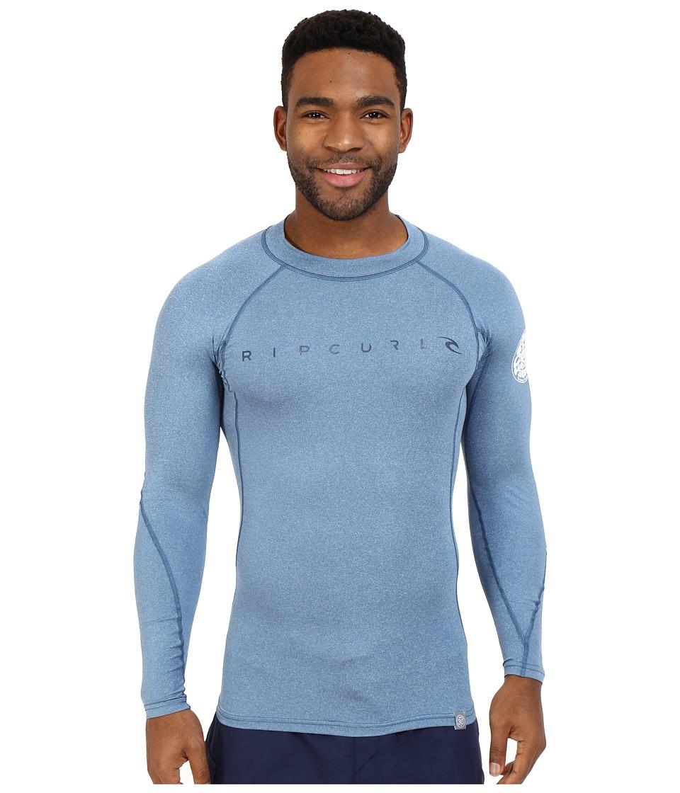 Rip Curl Dawn Patrol UV Tee Long Sleeve Blue Mens Swimwear