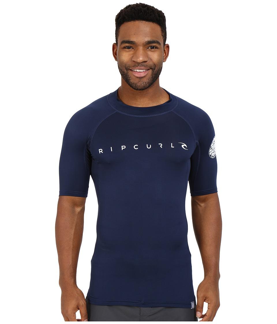 Rip Curl Dawn Patrol UV Tee Short Sleeve Navy Mens Swimwear
