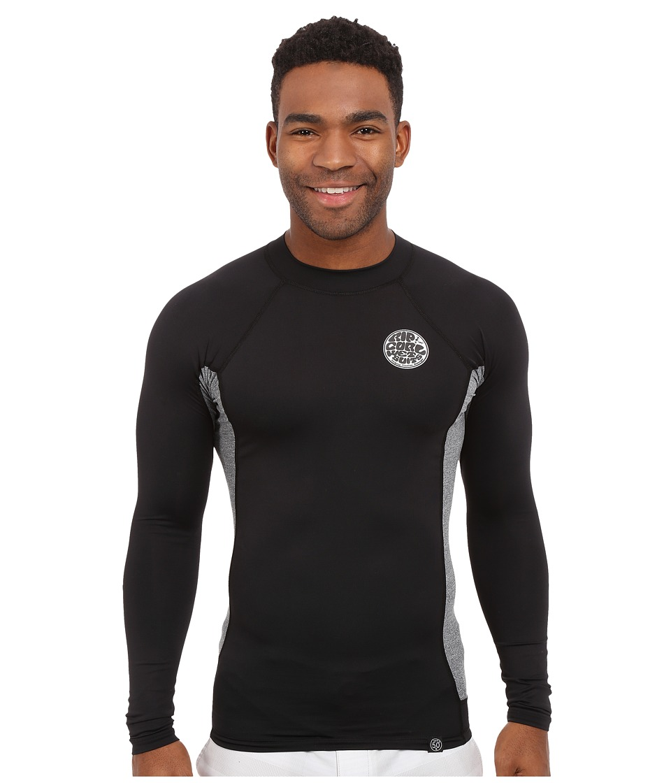 Rip Curl Aggrolite UV Tee Long Sleeve Black Mens Swimwear