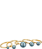Vince Camuto - Five-Piece Pearl Ring Set