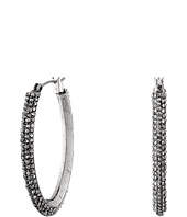 Lucky Brand - Pave Oblong Hoop Earrings