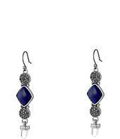 Lucky Brand - Lapis Double Pave Drop Earrings