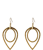 Lucky Brand - Double Pave Teardrop Earrings