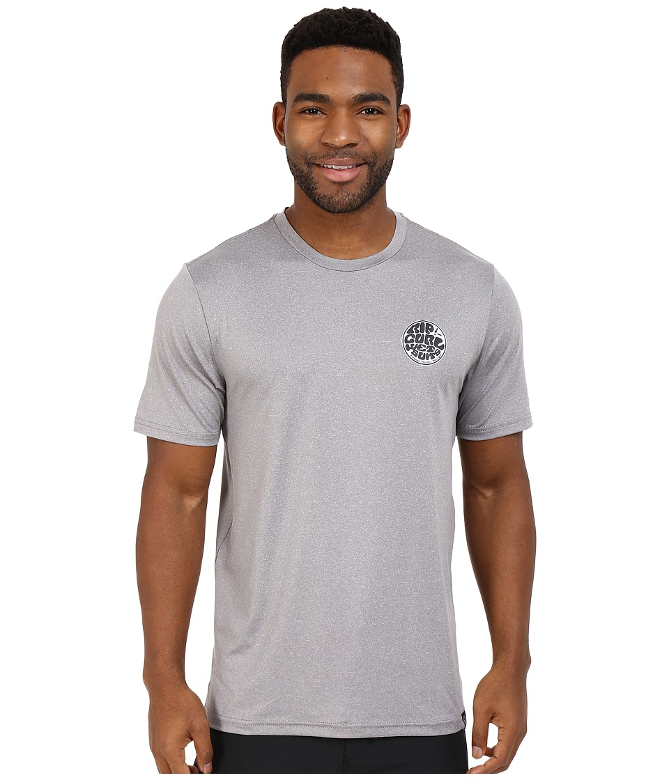 Rip Curl Aggrolite Surf Shirt Short Sleeve Grey Mens Swimwear