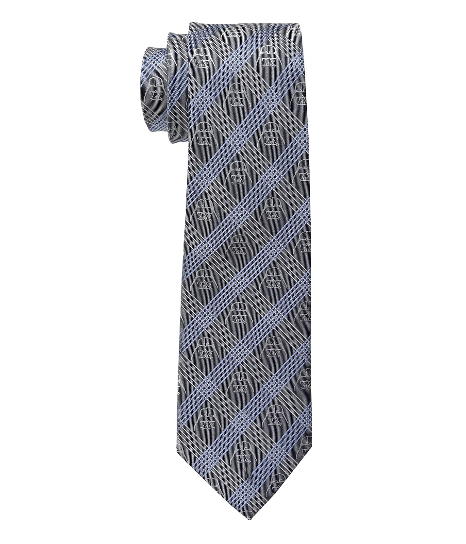 Cufflinks Inc. - Star Warstm Darth Vader Plaid Tie (Blue) Ties