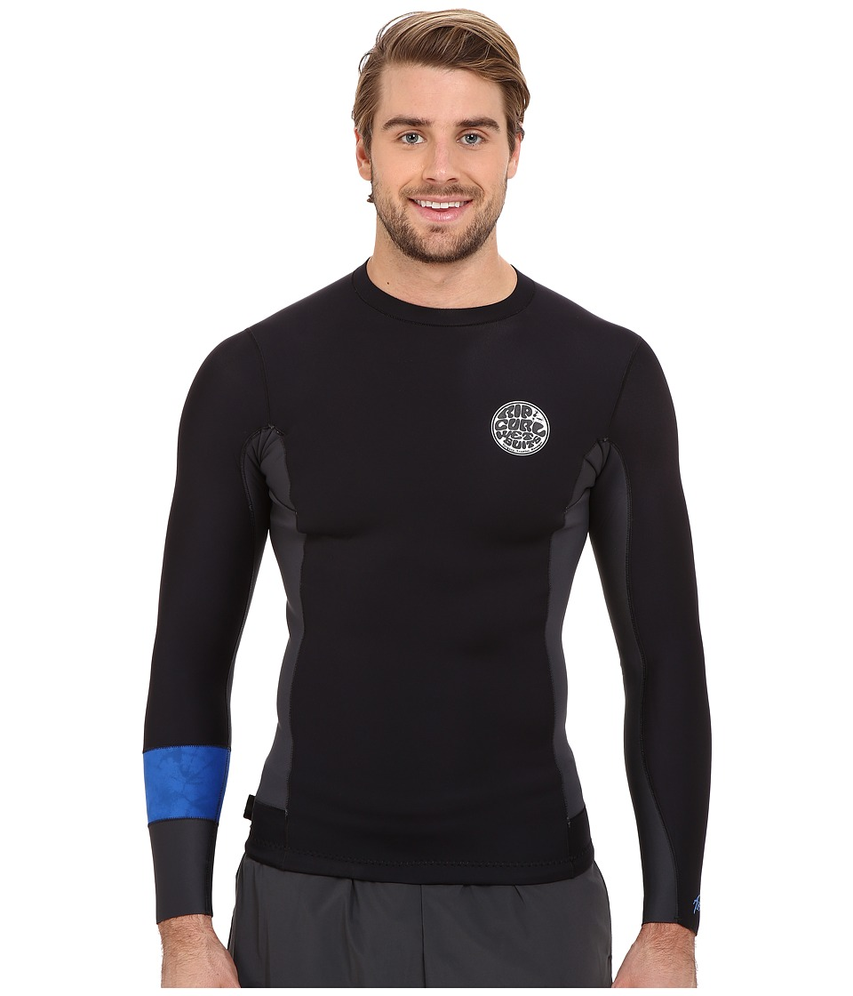 Rip Curl Aggrolite 1.5mm Long Sleeve Jacket Black Mens Swimwear