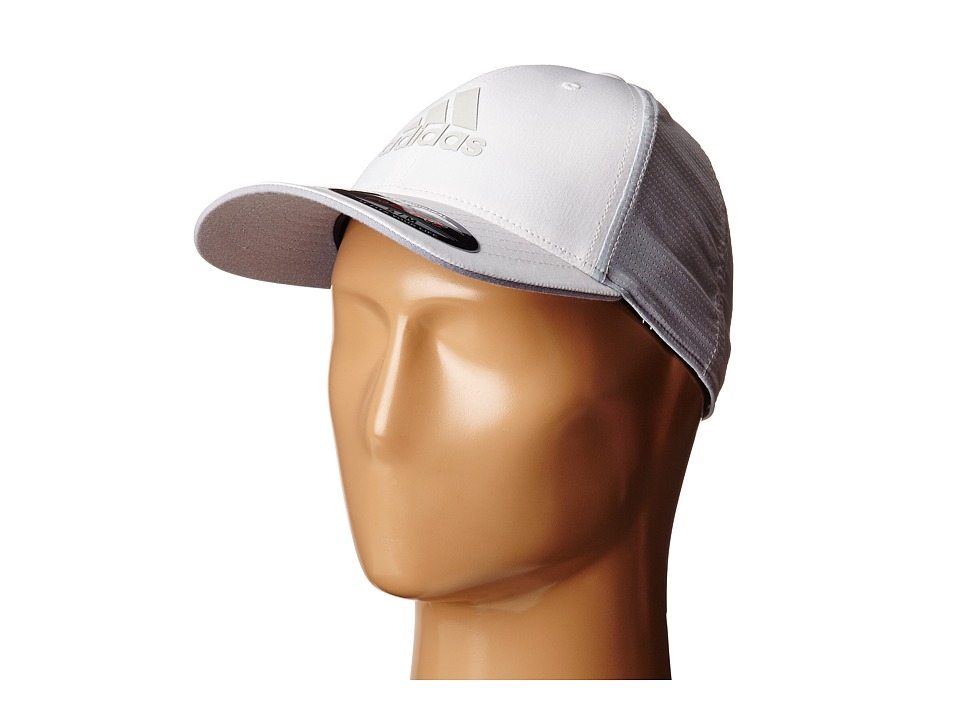 adidas Golf Lightweight CLIMACOOL Flexfit Hat White/Clear Grey Caps