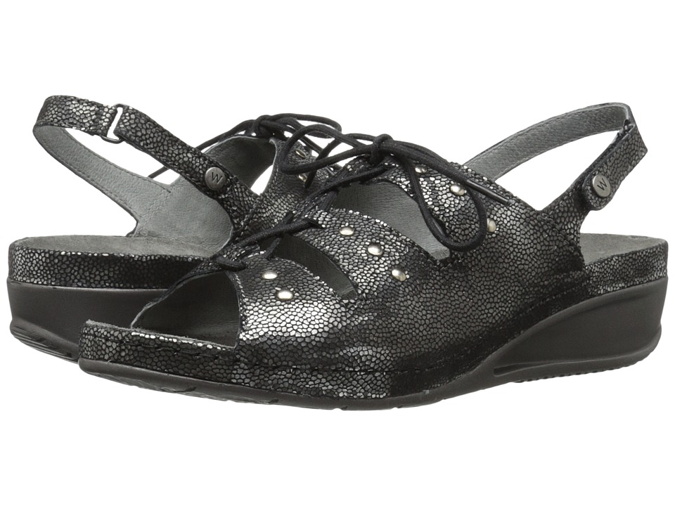 Wolky Bombi Black Womens Sandals