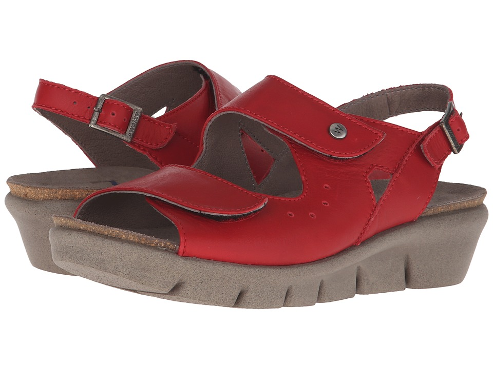 Wolky Star Red Womens Shoes