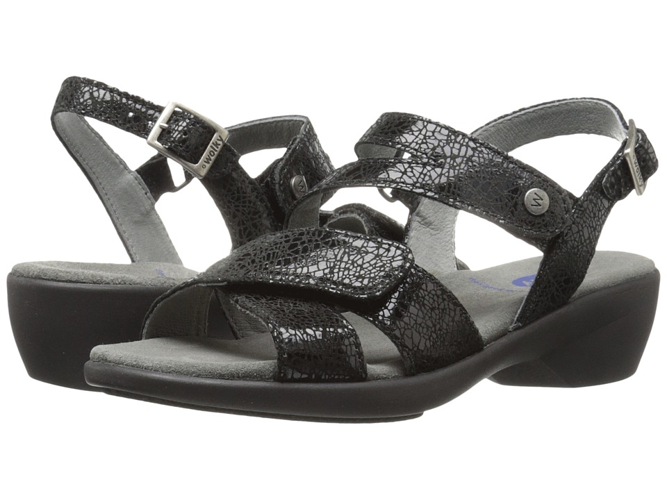 Wolky Fria Black Womens Sandals