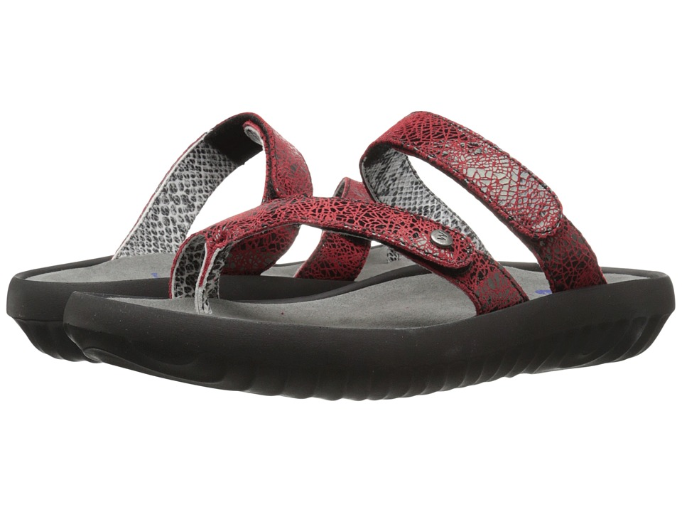 Wolky Bali Red Womens Sandals