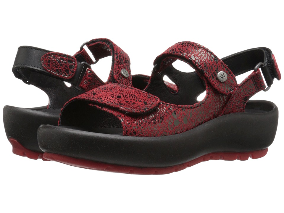 Wolky Rio Red Womens Sandals
