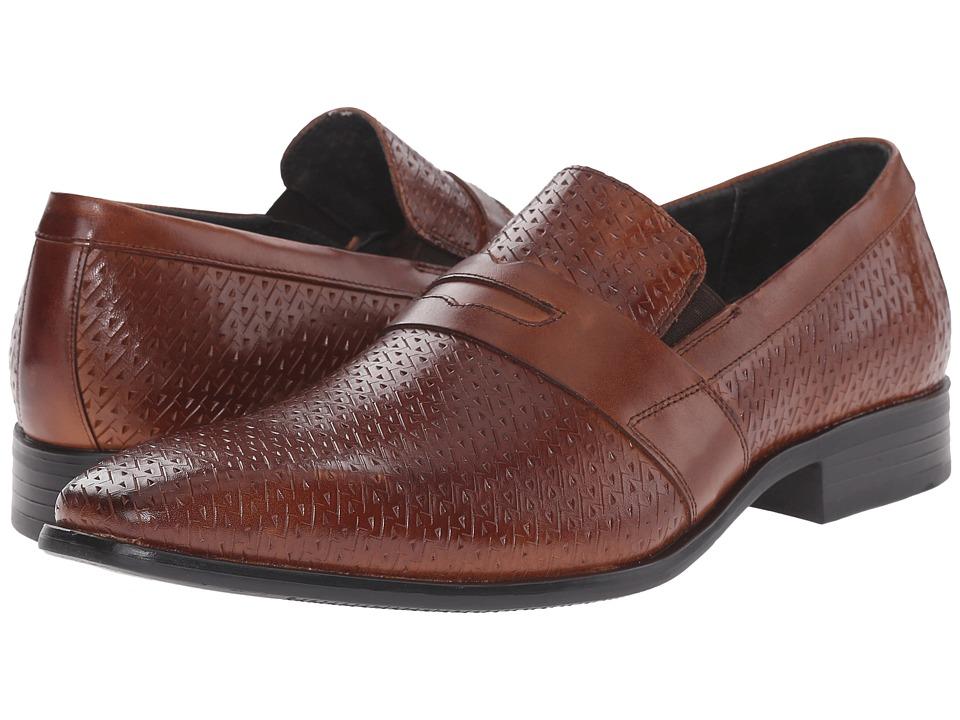 Stacy Adams - Marcellus Cognac Mens Plain Toe Shoes $90.00 AT vintagedancer.com