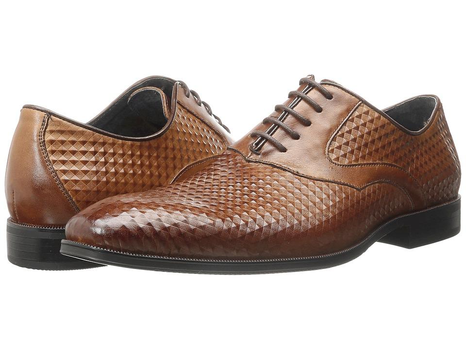Stacy Adams Fidello Cognac Mens Plain Toe Shoes