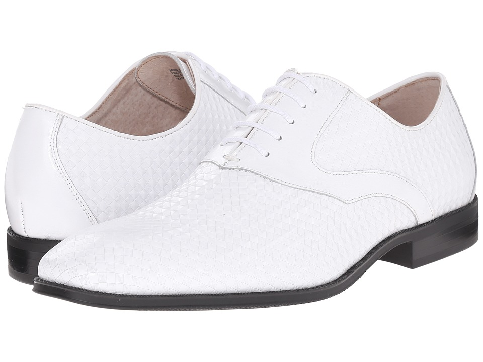 Stacy Adams Fidello White Mens Plain Toe Shoes