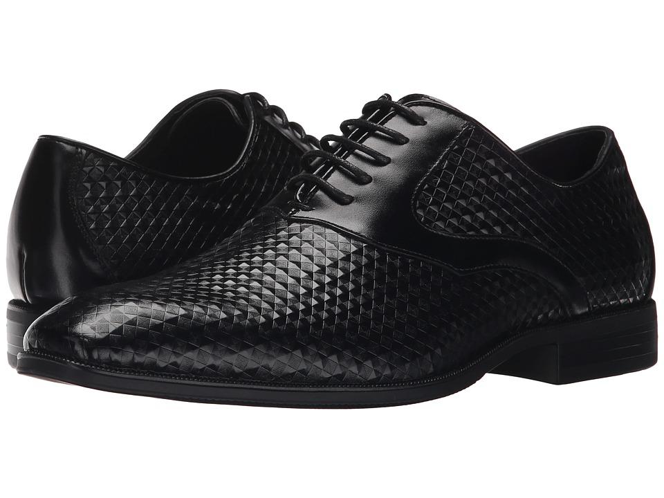 Stacy Adams Fidello Black Mens Plain Toe Shoes
