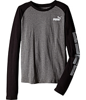Puma Kids - Long Sleeve Raglan Tee (Big Kids)