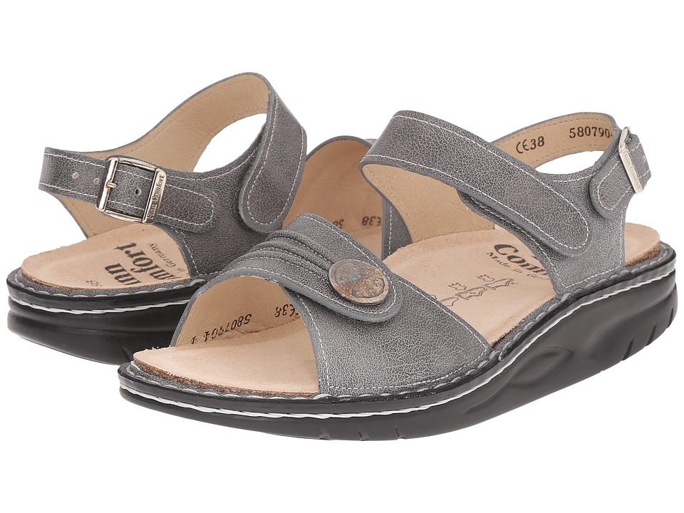 Finn Comfort Sausalito 1572 Grey Womens Toe Open Shoes