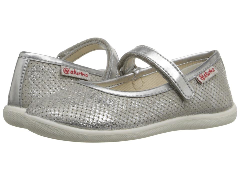 Naturino Nat. 7944 USA SS16 Toddler/Little Kid/Big Kid Silver 1 Girls Shoes