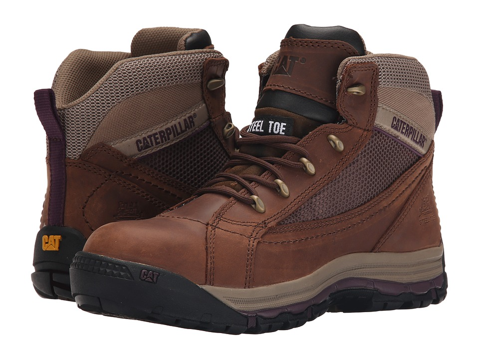 Caterpillar Champ Mid ST (Brown Sugar) Women's Work Boots