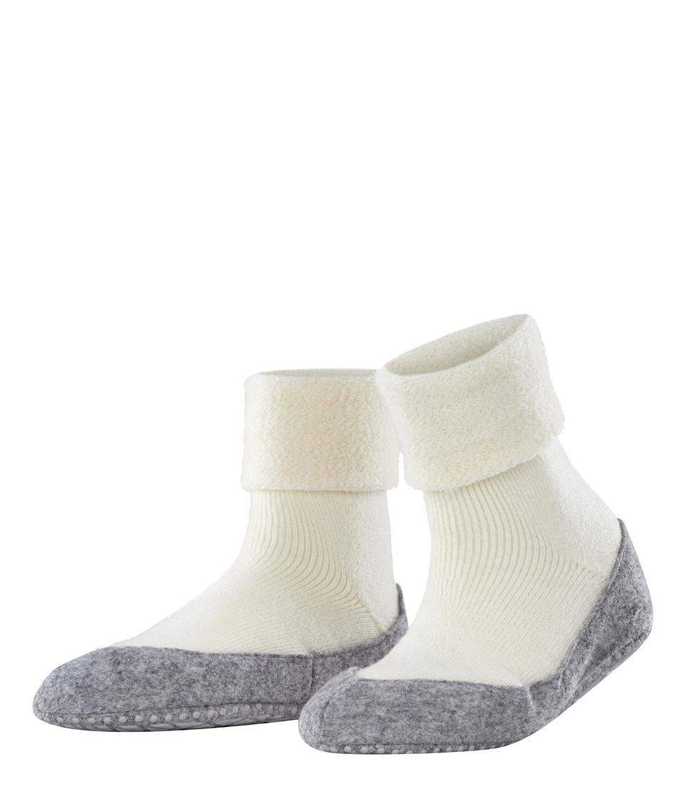Falke Cosyshoe Off White Womens Crew Cut Socks Shoes