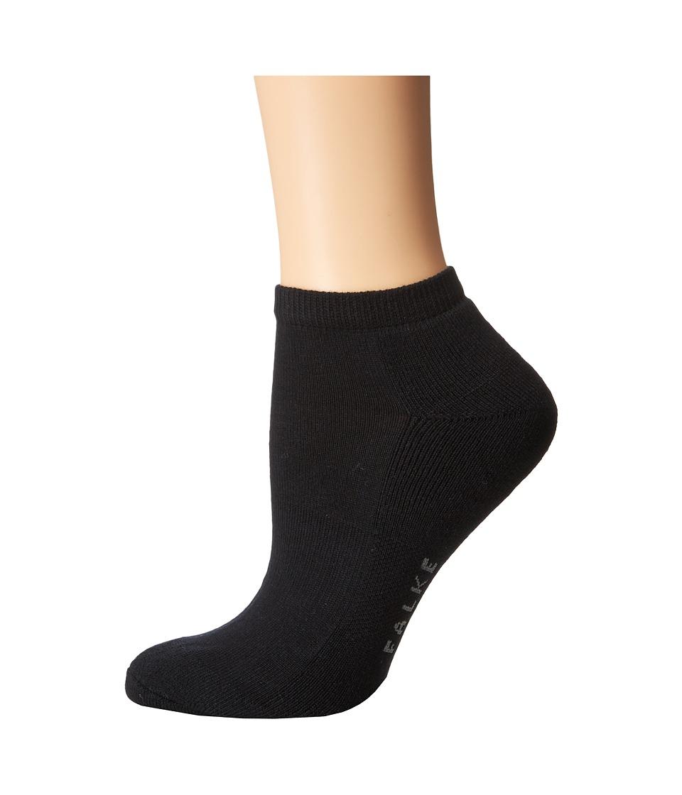 Falke Cosy Sneaker Sock Black Womens Crew Cut Socks Shoes