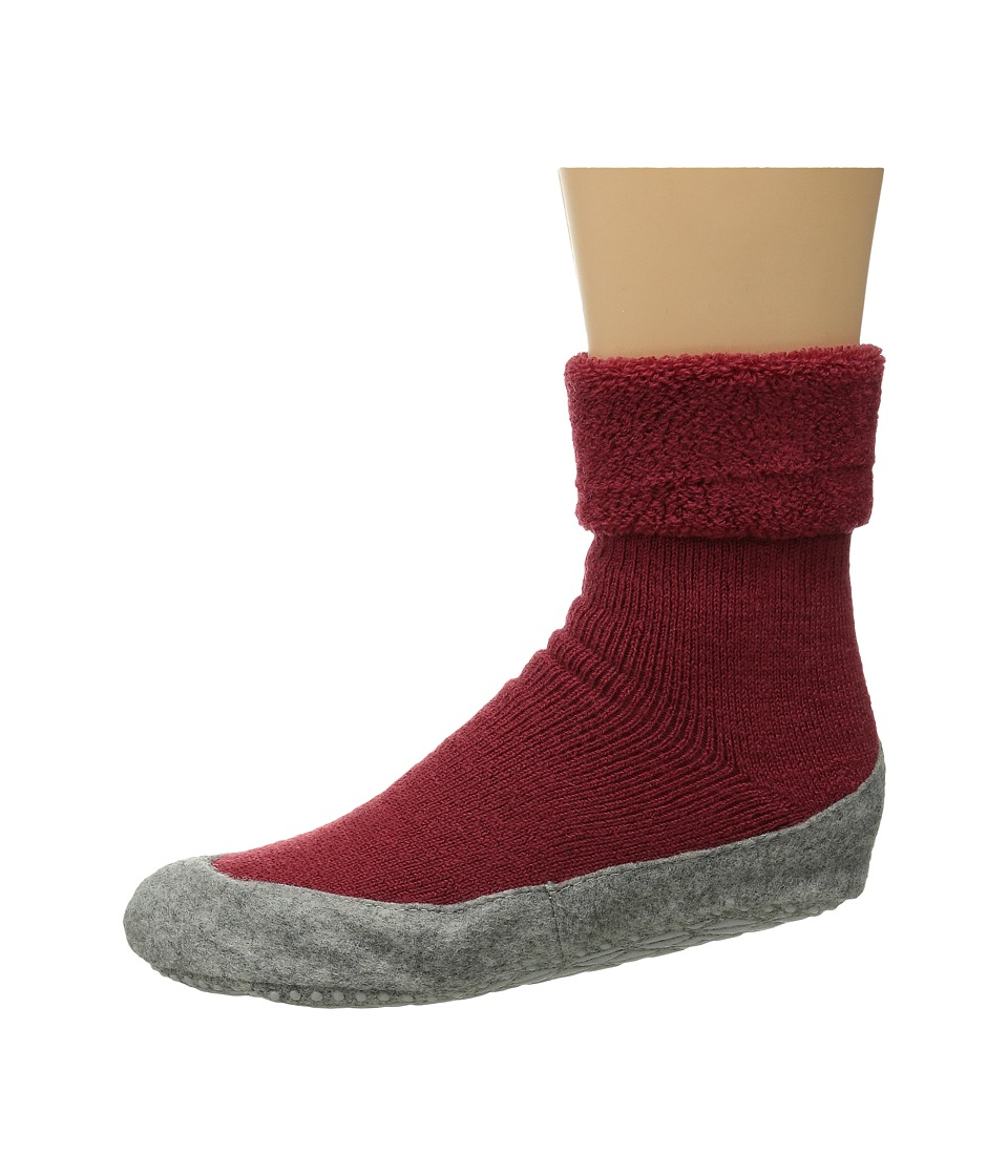 Falke Cosyshoe Red Womens Crew Cut Socks Shoes