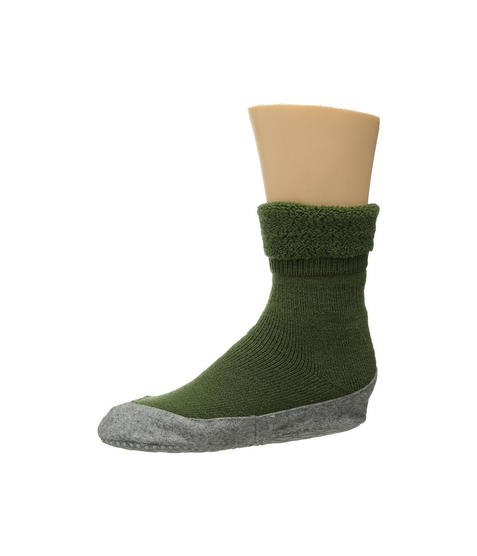 Falke Cosyshoe Cypress Green Womens Crew Cut Socks Shoes