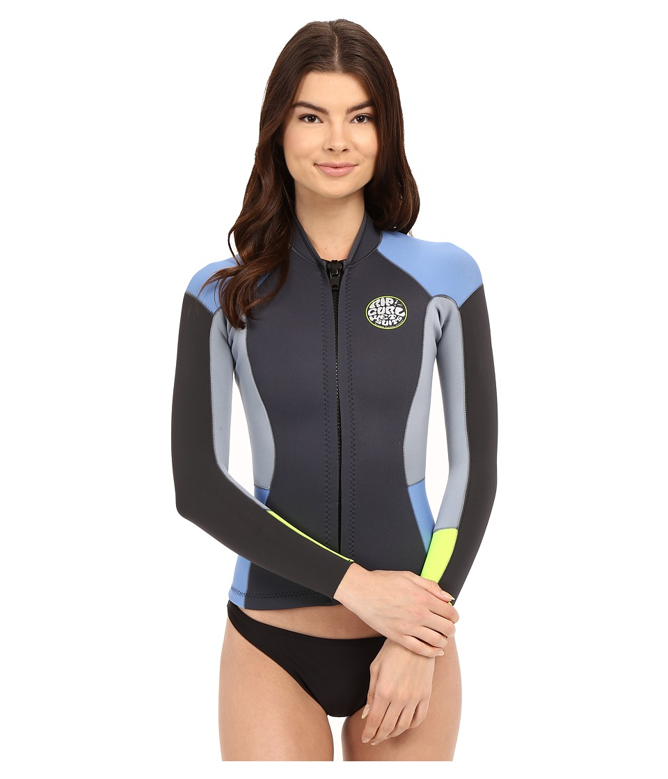 Rip Curl Dawn Patrol Long Sleeve Jacket Blue Womens Swimwear