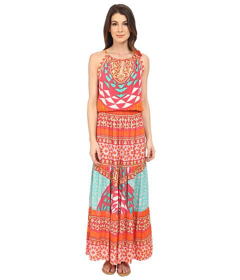 Hale Bob Tribal Wave Maxi Dress Fuchsia - 6pm.com