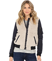 Levi's® - Zip Front Mixed Media Bomber w/ Sherpa