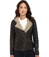 Levi's® - Assymetrical Faux Leather Hooded Moto w/ Sherpa
