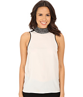 MICHAEL Michael Kors - Embellished Turtleneck Tank Top