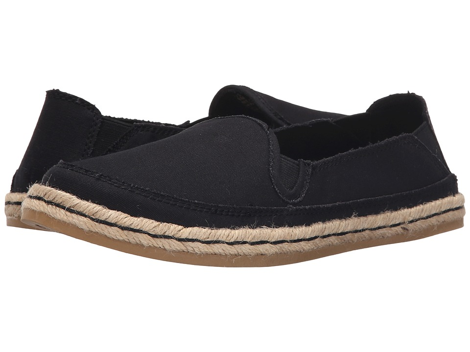 Hush Puppies Cassie Kelli Black Canvas Womens Slip on Shoes