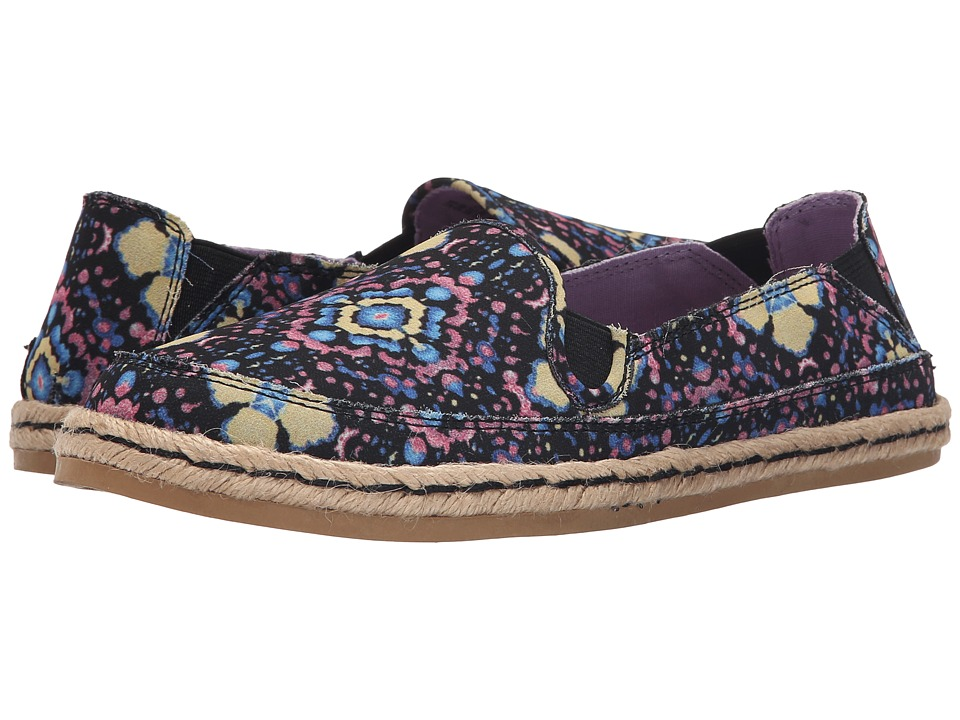 Hush Puppies Cassie Kelli Purple Floral Womens Slip on Shoes