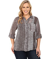 MICHAEL Michael Kors - Plus Size Kobe Hi-Lo Button Down