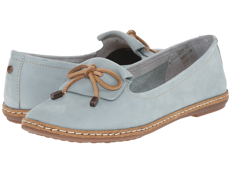 Hush Puppies Adena Piper Slate Blue Womens Slip on Shoes