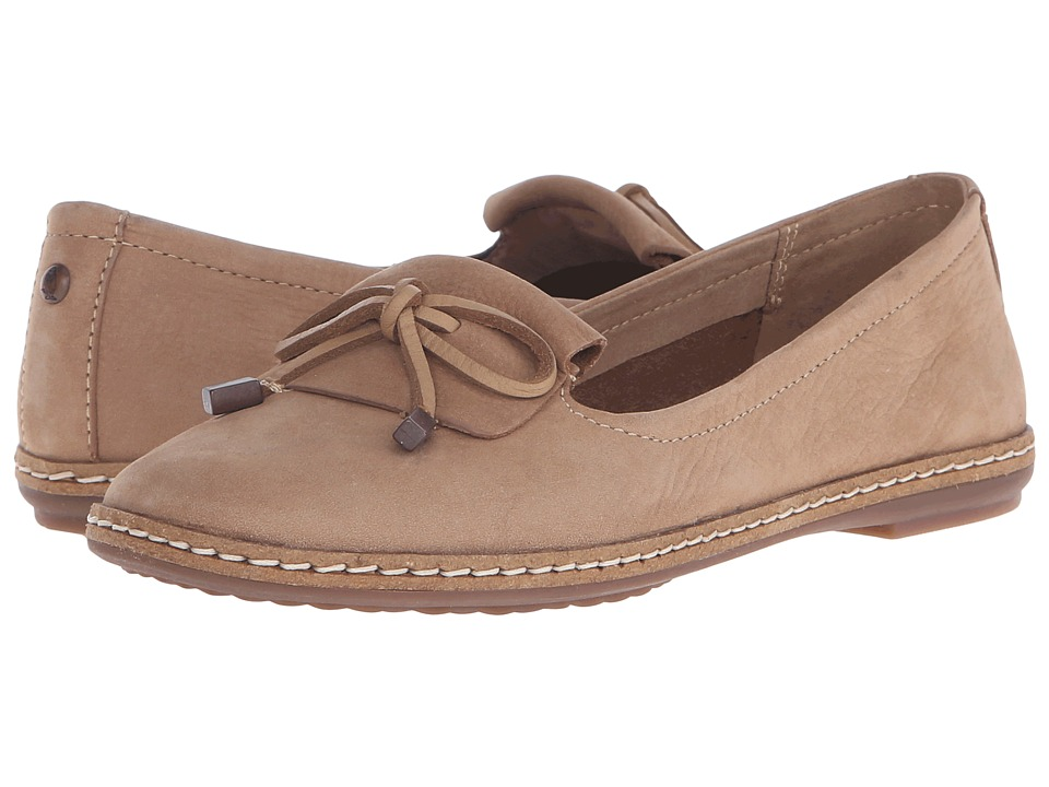 Hush Puppies Adena Piper Tan Leather Womens Slip on Shoes