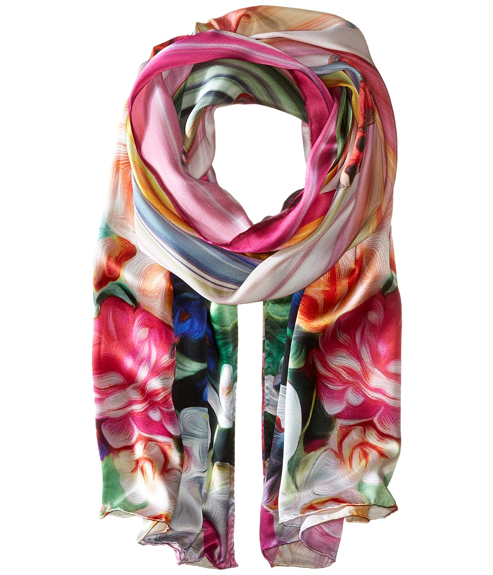 Ted Baker Adita Floral Swirl Long Scarf Fuchsia Scarves