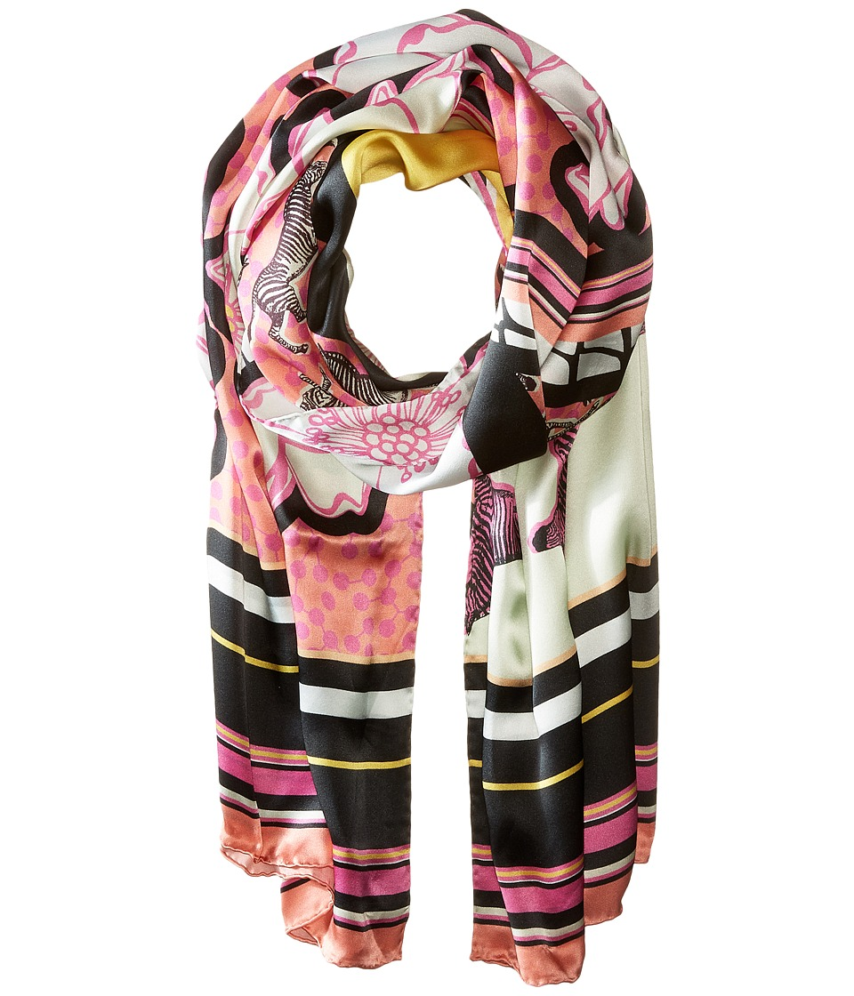 Ted Baker Dion Zebra Tribal Long Scarf Fuchsia Scarves