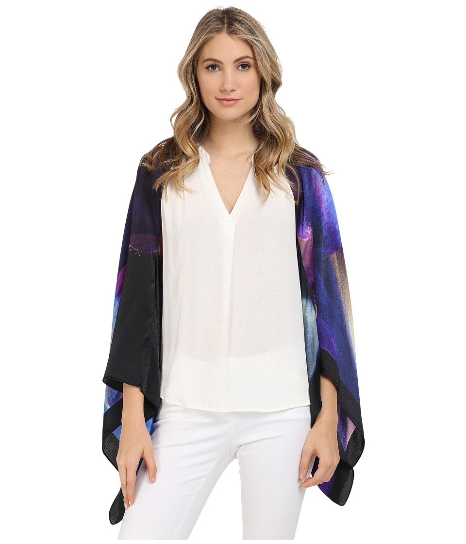 Ted Baker Daylar Cosmic Bloom Scarf Cape Black Womens Clothing