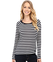 MICHAEL Michael Kors - Long Sleeve Raglan Stripe Waffle Top